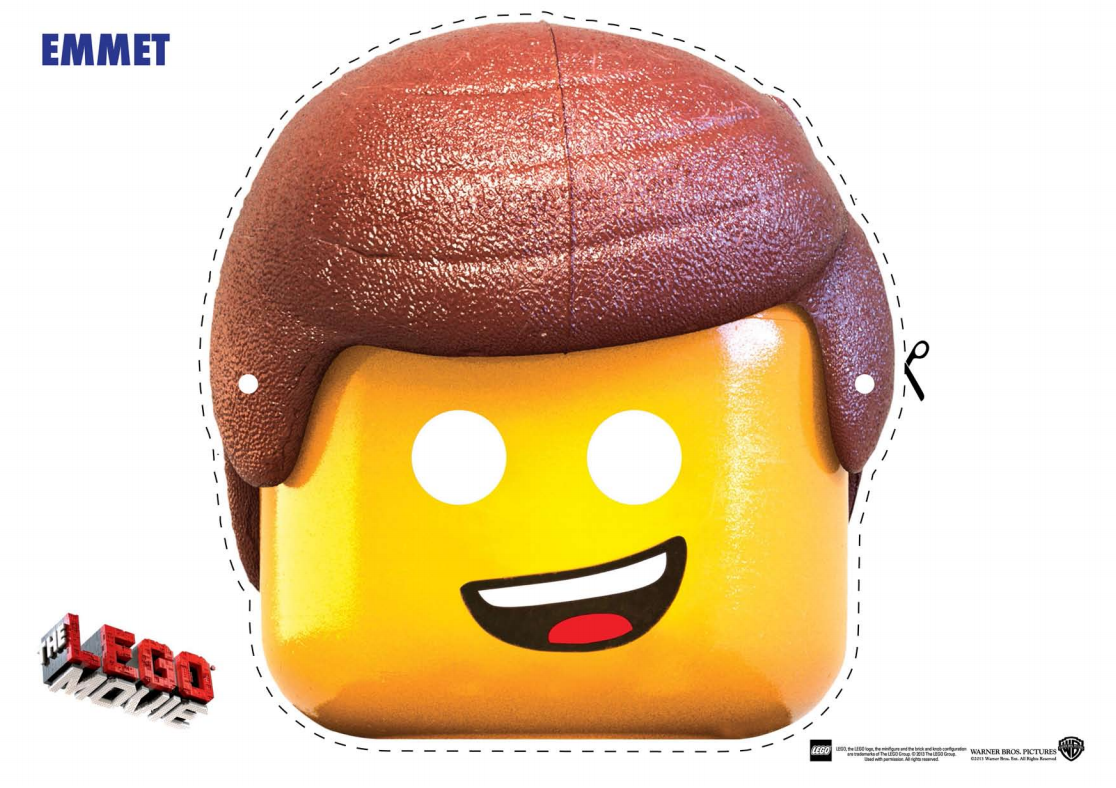 The Lego Movie Character Mask Cut Outs